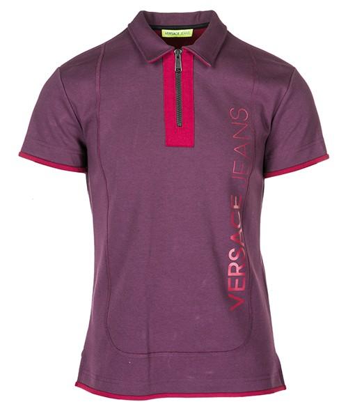 Polo t-shirt Versace Jeans B3GSA7PB viola