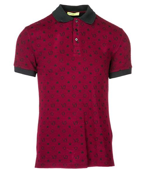 Polo t-shirt Versace Jeans B3GSA7PF bordeaux