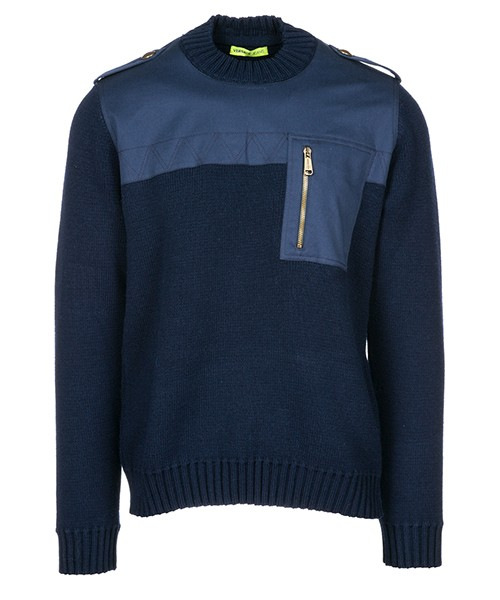 Pullover Versace Jeans B5GSB813 blu