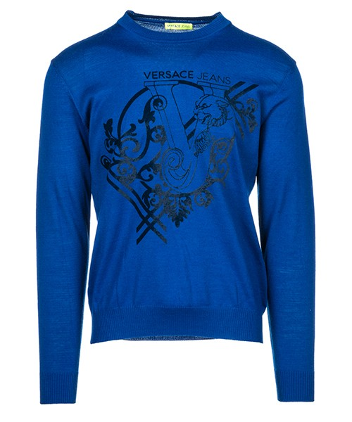 Pullover Versace Jeans B5GSB825 blu