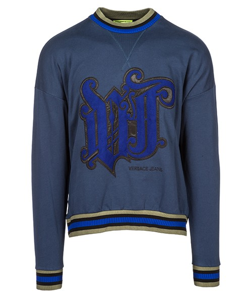 Felpa Versace Jeans B7GSB7FF blu