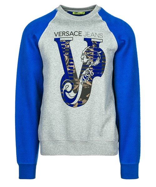 Felpa Versace Jeans B7GSB7FZ grigio