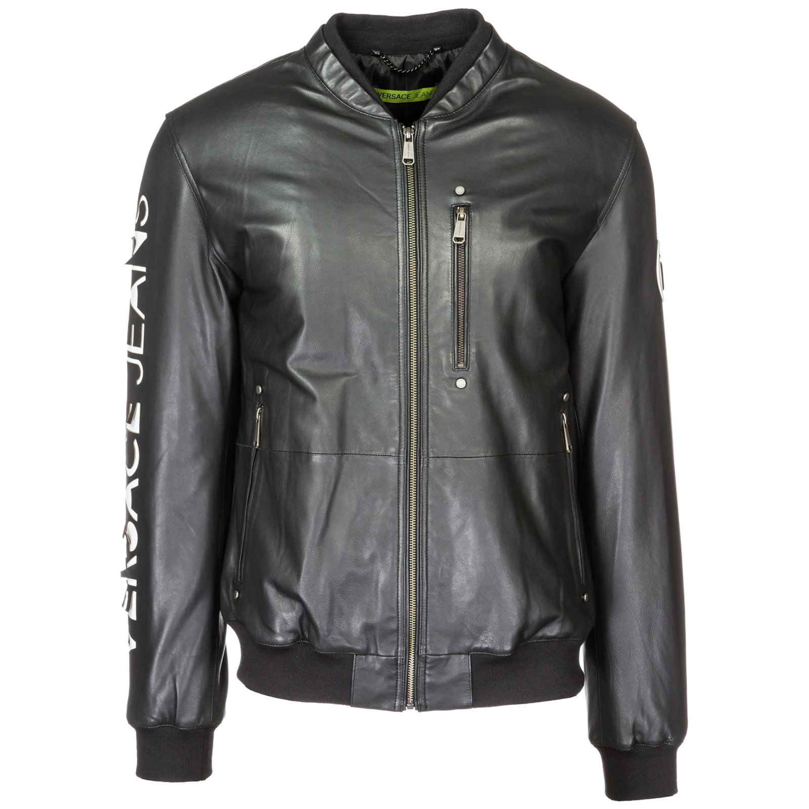 d44f63a53b1c Veste en cuir Versace Jeans ECGSA9P0 nero   FRMODA.com