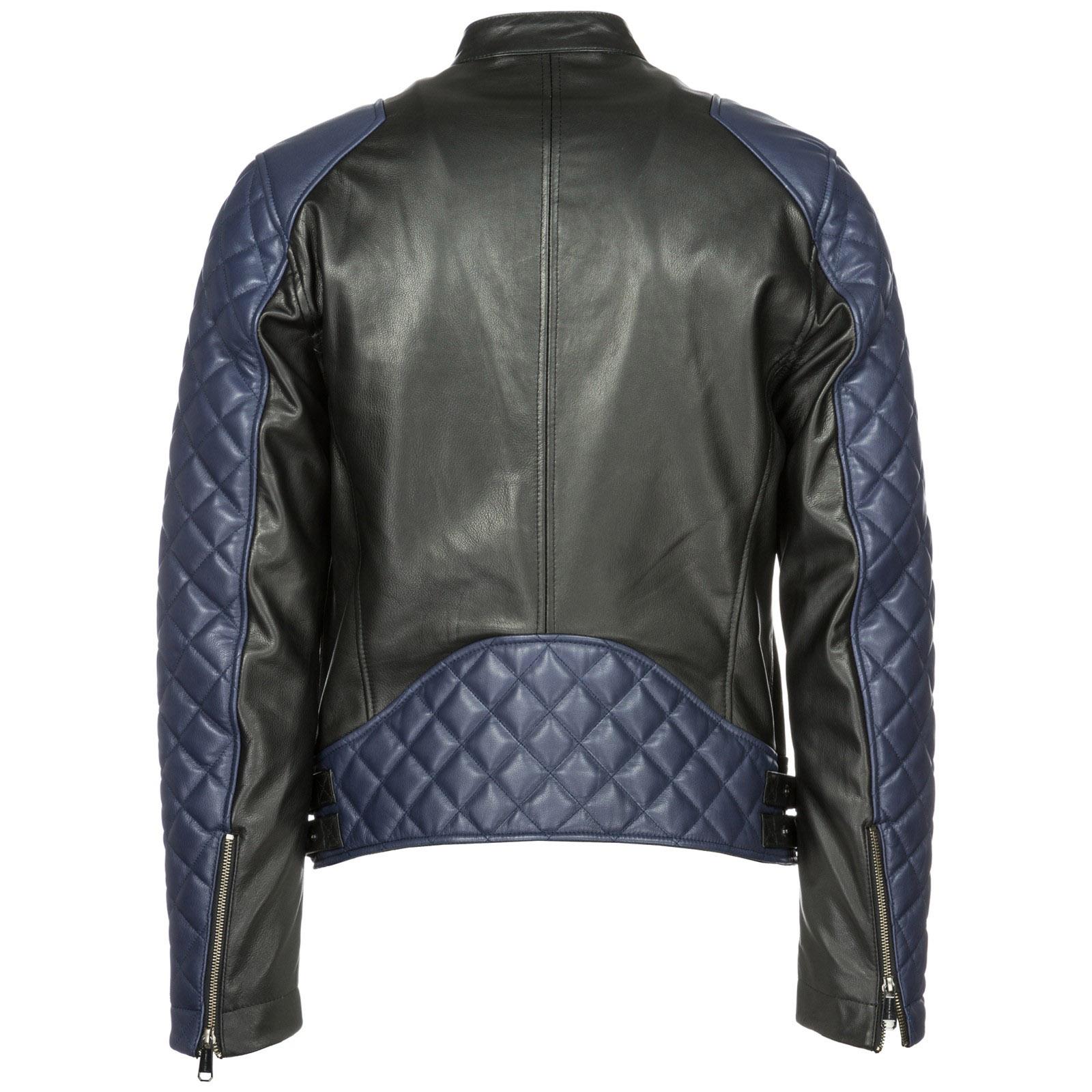 Veste en cuir Versace Jeans ECGSB9P3 nero   FRMODA.com ce1e473d89d