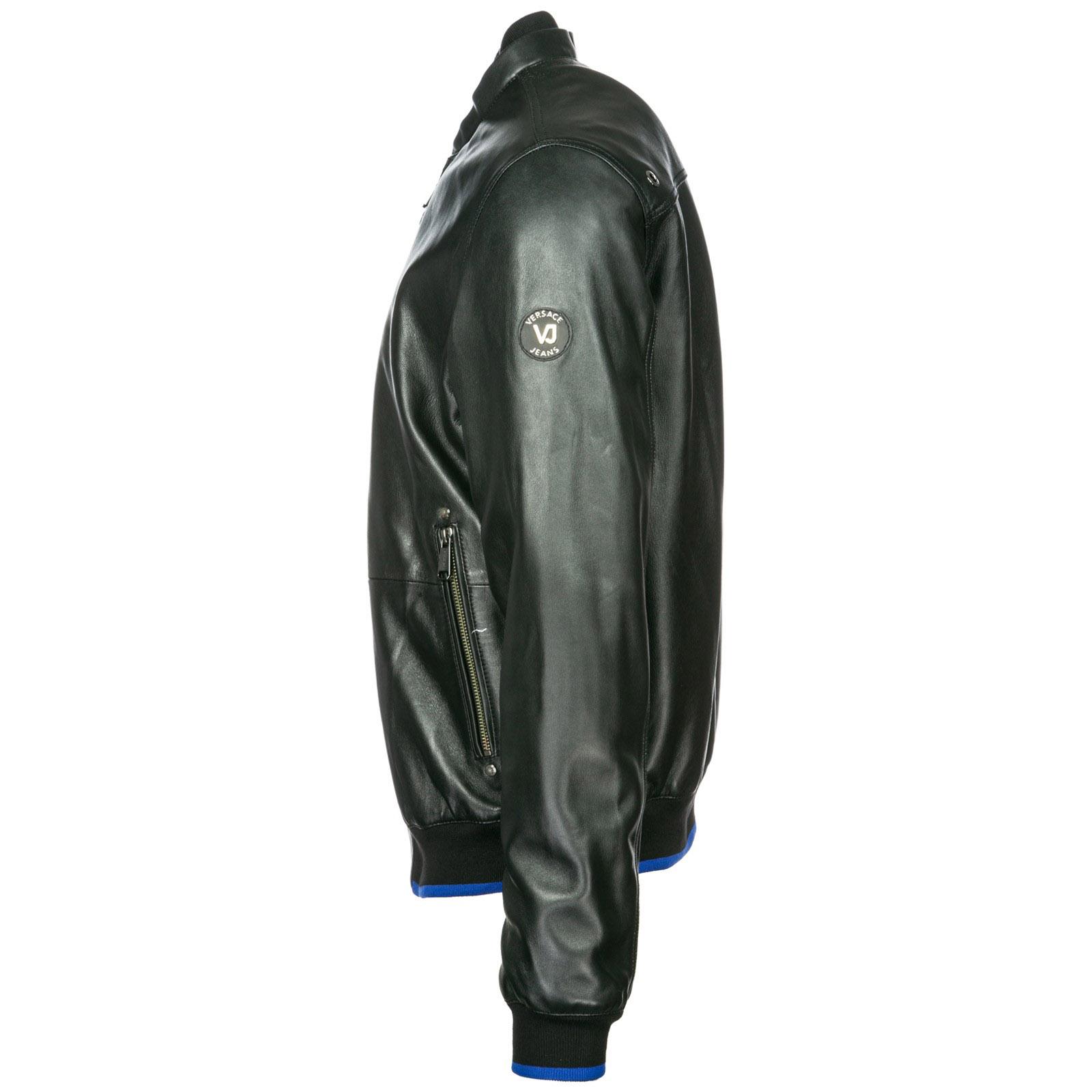 Veste en cuir Versace Jeans ECGSB9P5 nero   FRMODA.com 9352175bda1
