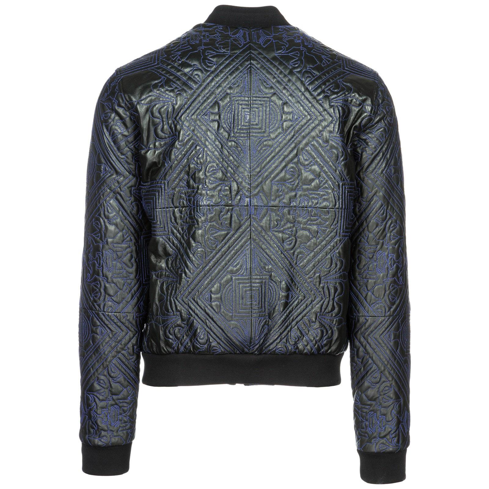 Jeans Cuir En Veste Nero Versace Ecgsb9p6 qFRzW0v
