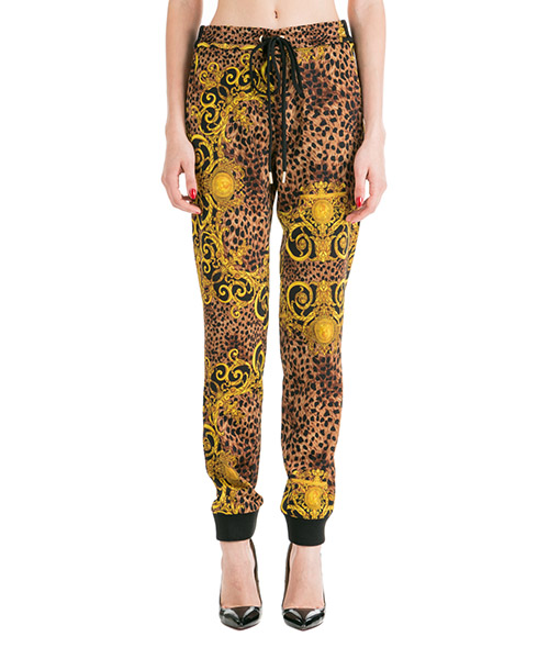 Tracksuit bottoms Versace Jeans Couture Leo Baroque EA1HUA116-ES0594_E923 marrone