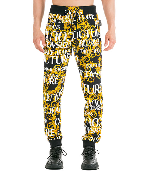 Pantalones deportivos Versace Jeans Couture Logo Baroque EA2GUA1F1-ESH600_E899 nero