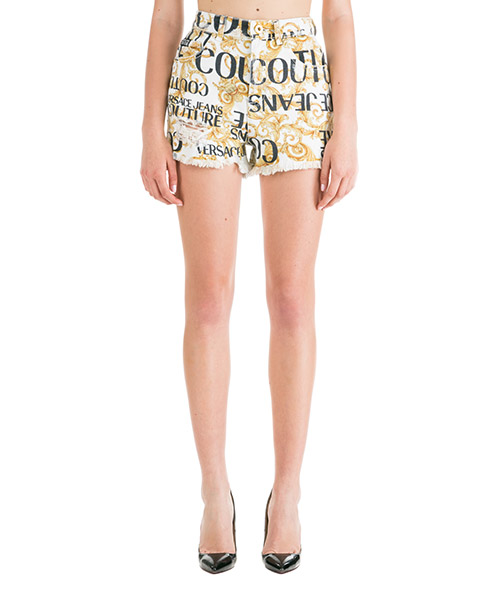 Shorts Versace Jeans Couture Logo Baroque EA3HUA179-ESH13V_E003 bianco