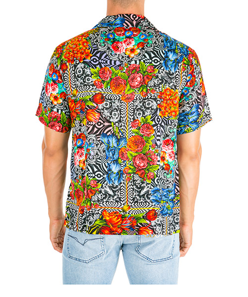 Men's short sleeve shirt  t-shirt optical flowers secondary image