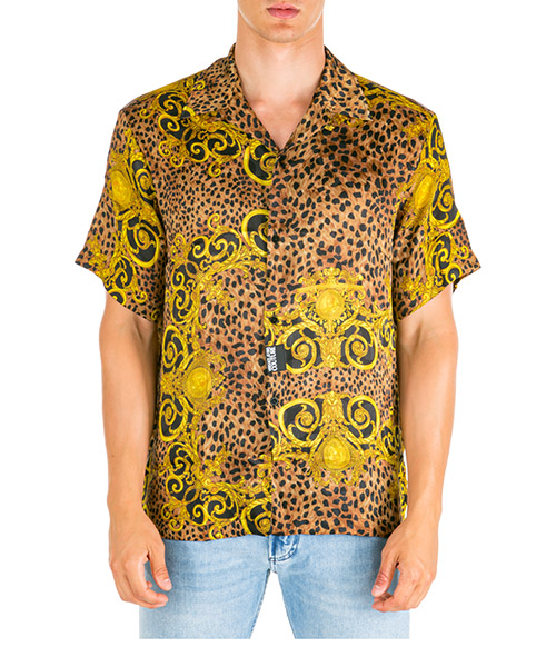 Hemd Versace Jeans Couture leo baroque bowling eb1gua604-es0598_e923 marrone