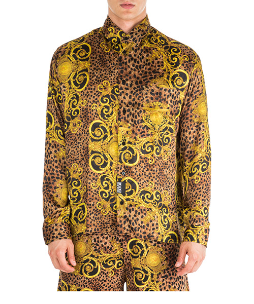 Camisa Versace Jeans Couture Leo Baroque EB1GUA607-ES0598_E923 marrone