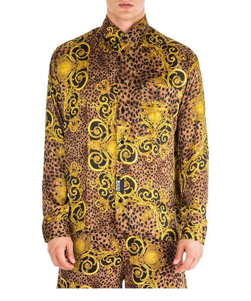 Рубашка Versace Jeans Couture Leo Baroque EB1GUA607-ES0598_E923 marrone