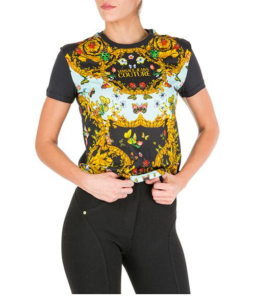 T-shirt Versace Jeans Couture ladybug baroque eb2hua7ep-e36242_e112 nero