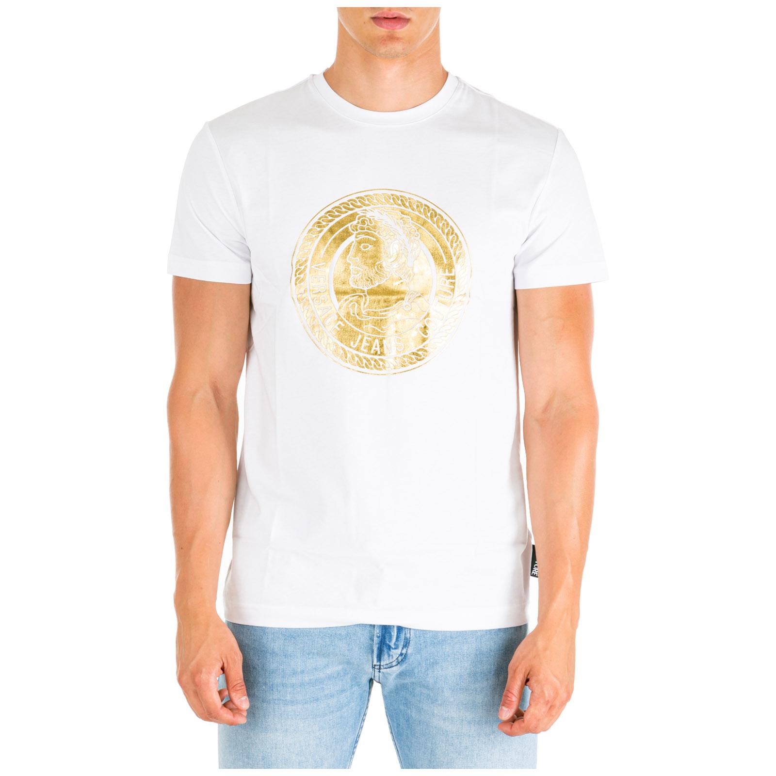 84120a06 Men's short sleeve t-shirt crew neckline jumper slim fit