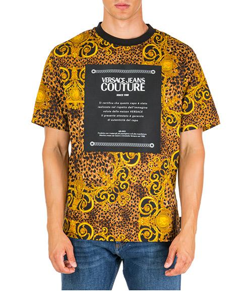 T-shirt Versace Jeans Couture Leo Baroque EB3GUA700-ES0597_E923 marrone