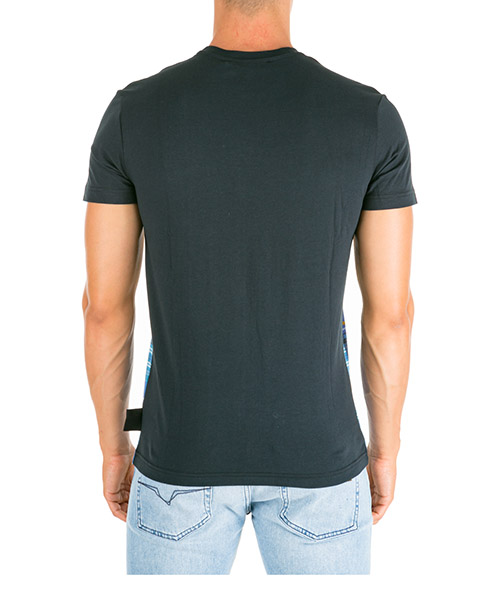 Men's short sleeve t-shirt crew neckline jumper check baroque secondary image