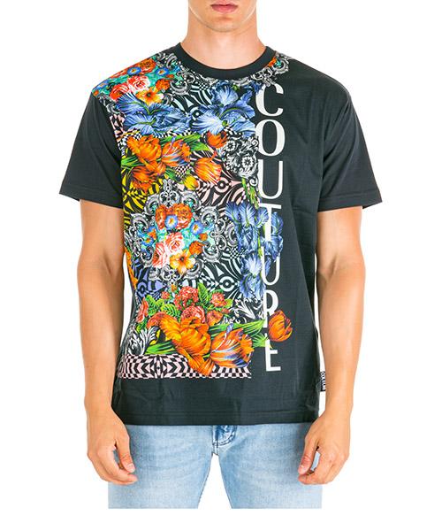 T-shirt Versace Jeans Couture flowers eb3gua7db-e36609_e899 nero
