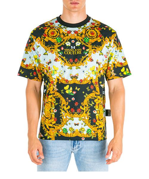 T-shirt Versace Jeans Couture ladybug baroque eb3gua7de-e36609_e899 nero