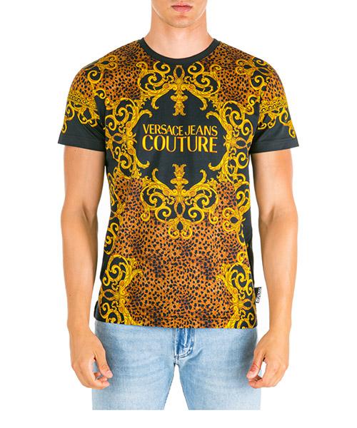T-shirt Versace Jeans Couture leo baroque eb3gua7df-e36609_e899 marrone
