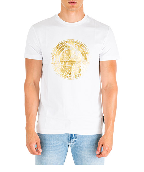 T-shirt Versace Jeans Couture EB3GUA7KB-E36598_E003 bianco