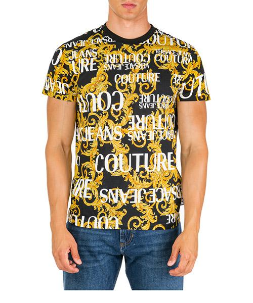 T-shirt manches courtes ras du cou homme logo baroque