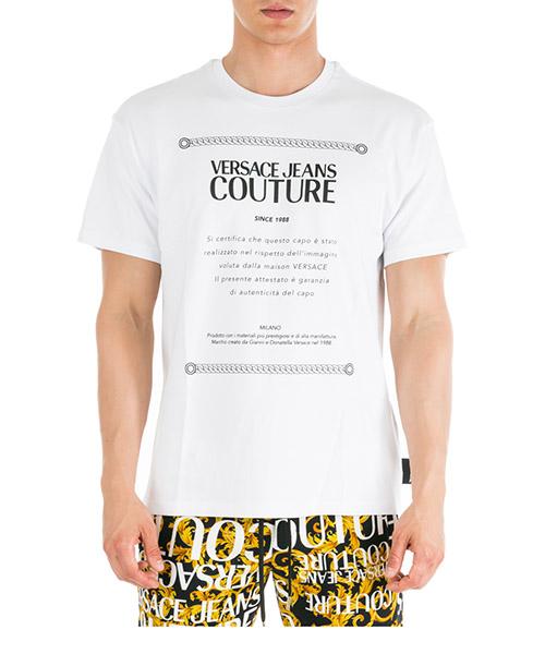 Sobretodo Versace Jeans Couture Etichetta EB3GUA7TF-E30171_E003 bianco