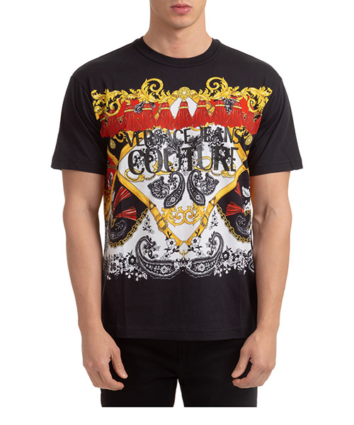 T-shirt Versace Jeans Couture baroque EB3GZA7KA-E30327_E899 nero