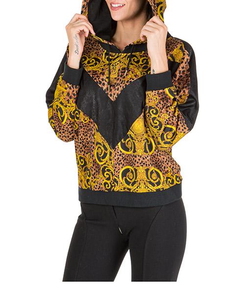 Sudadera con capucha Versace Jeans Couture leo baroque eb6hua766-es0594_e923 marrone