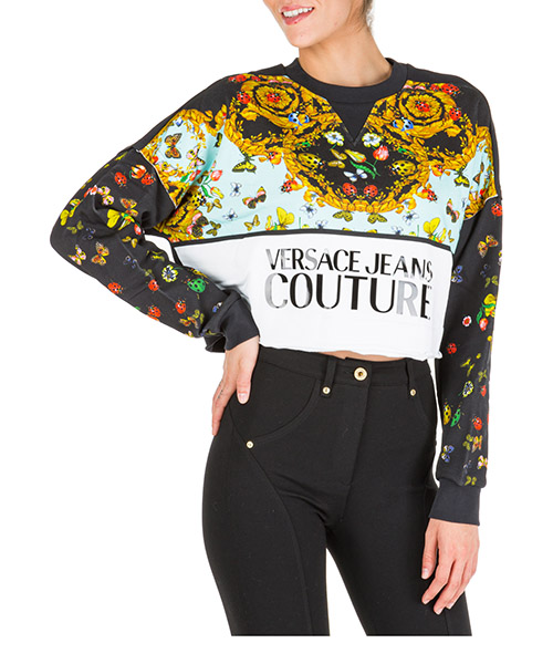 Sweat Versace Jeans Couture Ladybug Baroque EB6HUA768-E30213_E899 nero