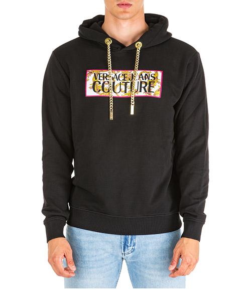 Hoodie Versace Jeans Couture eb7gua7f0-e30216_e899 nero