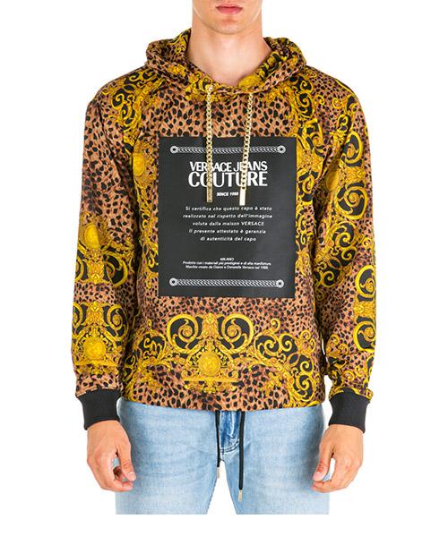 Hoodie Versace Jeans Couture leo baroque eb7gua7f4-es0594_e923 marrone
