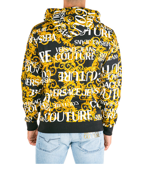 Men's sweatshirt with zip sweat logo baroque secondary image