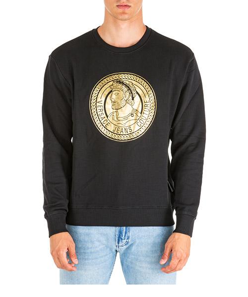 Sweatshirt Versace Jeans Couture adriano eb7gua7fs-e30219_e899 nero