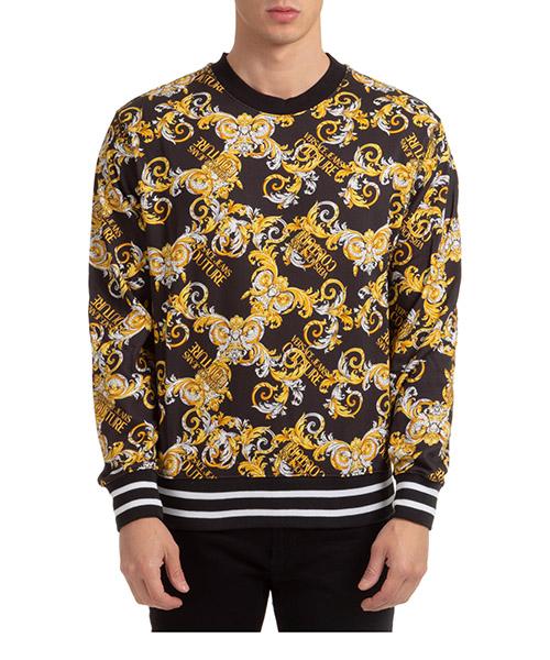 Sweatshirt Versace Jeans Couture baroque EB7GZA709-ES0830_E899 nero