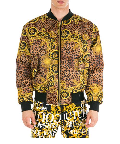 Winterjacke Versace Jeans Couture Leo Baroque EC1GUA920-ES0534_E923 marrone