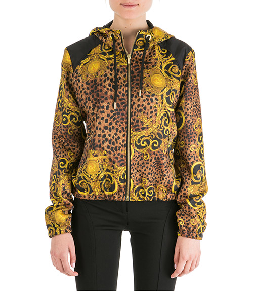 Zip-up sweatshirt Versace Jeans Couture leo baroque ec9hua901-es0534_e923 nero
