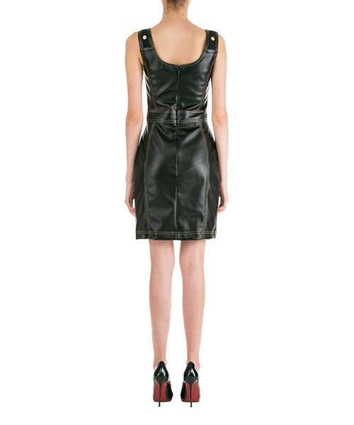 Vestito abito donna corto miniabito senza maniche secondary image