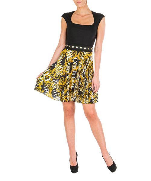 Vestito corto Versace Jeans Couture leo baroque ed2hua408-es0600_e899 nero