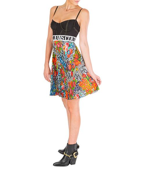 Vestito corto Versace Jeans Couture optical flowers ed2hua413-es0539_e899 nero