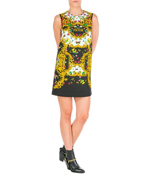 Vestito al ginocchio Versace Jeans Couture ladybug baroque ed2hua422-es0602_e112 nero