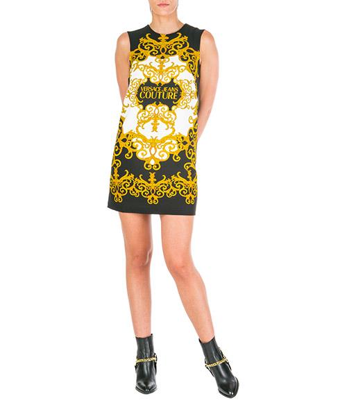 Vestito al ginocchio Versace Jeans Couture logo baroque ed2hua422-es0604_e899 nero