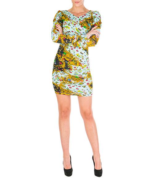 Vestito al ginocchio Versace Jeans Couture ladybug baroque ed2hua425-es0529_e112 nero
