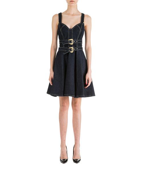 Knielange Kleider Versace Jeans Couture ED2HUA434-EALK3M_E912 blu