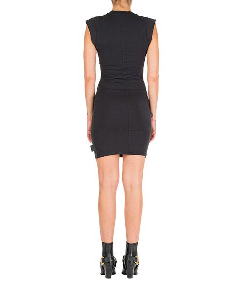 Women's short mini dress short sleeve optical flowers secondary image