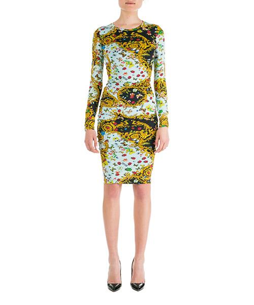 Knielange Kleider Versace Jeans Couture ED2HUA448-ES0529_E112 nero