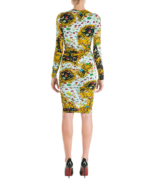 Women's knee length dress long sleeve secondary image