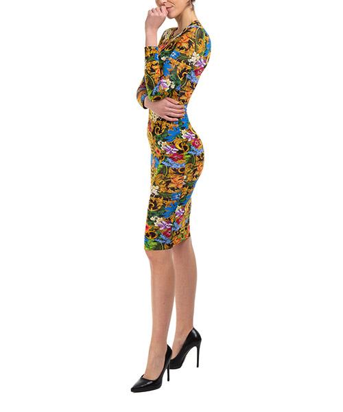 Minikleid Versace Jeans Couture tropical baroque ed2hva454-es0644_e983 verde