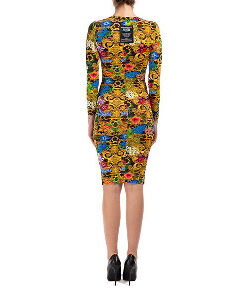 Damen kurzes kleid mini lange Ärmel tropical baroque secondary image