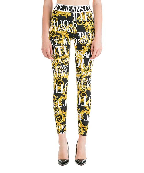 Leggings Versace Jeans Couture Logo Baroque ED5HUA161-ES0537_E899 nero